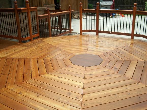 Octagon deck after staining, view 3.