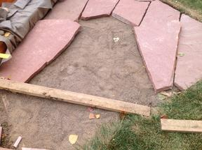 Space in flagstone patio to fill.