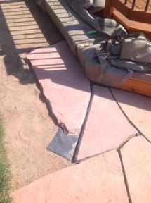 Finished piece of flagstone.