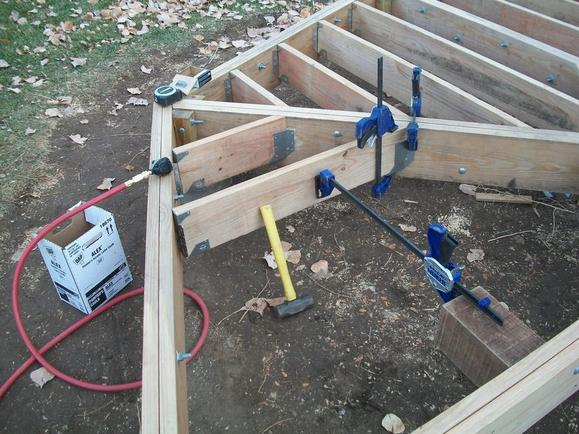 Pin beams and rafters on pinterest for Balcony joists