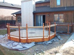 Deck railings.