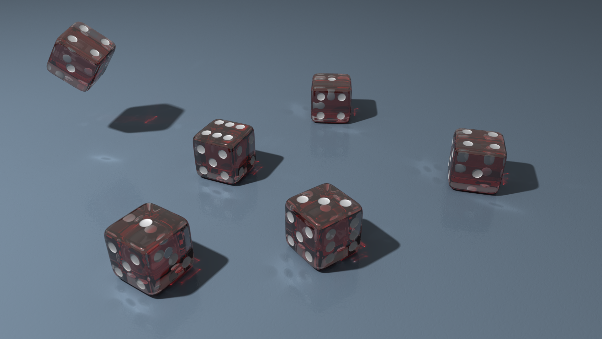 povray six dice